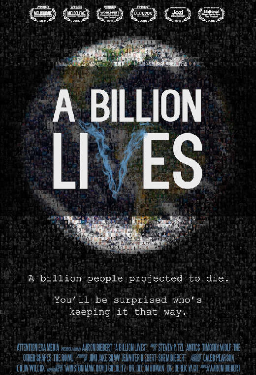 The poster for the film, A Billion Lives.